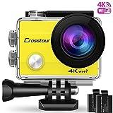 Crosstour Action Cam WiFi Sports Aktion Kamera 4K Ultra HD 2' LCD Unterwasserkamera 30M 170...