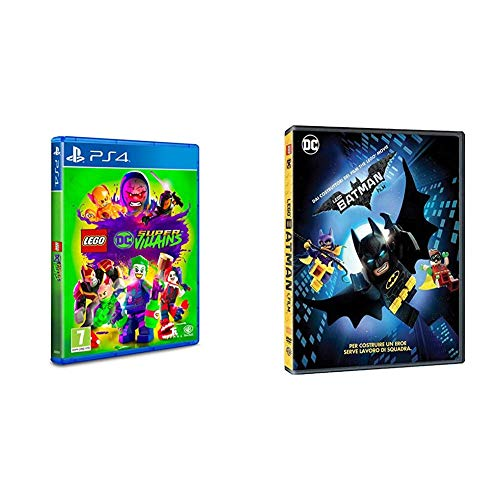 Lego DC Super Villains [PS4] + Batman [DVD]