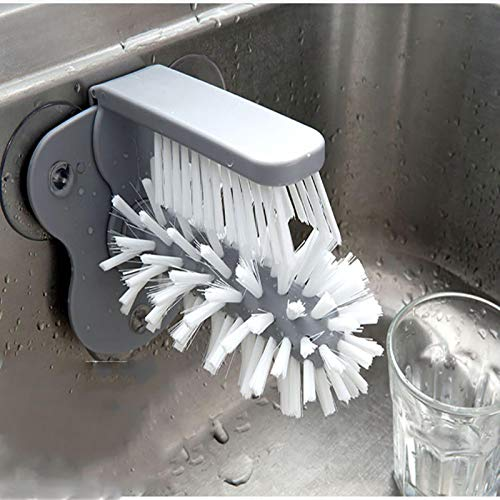 Vaso Scrubber Limpiador de Vidrio Botellas Cepillo Fregadero Accesorios de Cocina 2 en 1 Taza de Bebida Copa de Vino Cepillo de Limpieza Gadgets