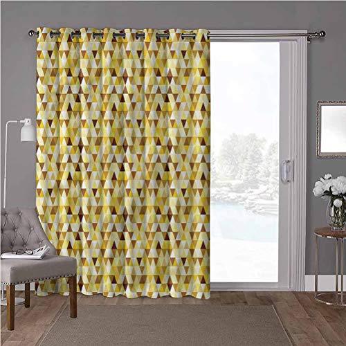 YUAZHOQI Cortina opaca para puerta corredera de patio, geométrica, Funky Vivid Triángulos, W52 x L96 pulgadas cortinas de puerta de cristal para ventana (1 panel)