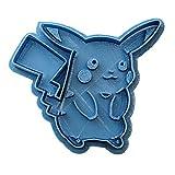 Cuticuter Pokemon Pikachu di Biscotti, Blu, 8x 7x 1.5cm
