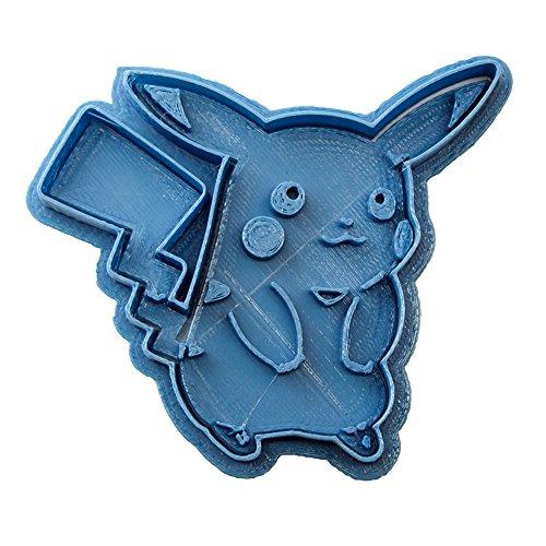 Ausstechform Pokemon Pikachu, Blau, 8 x 7 x 1,5 cm