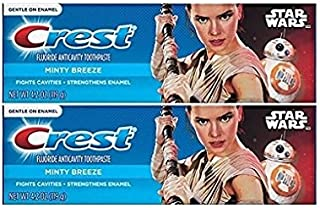 Crest Pro Health Junior Star Wars Children's Fluoride Anticavity Toothpaste Minty Breeze 4.2 oz,119 gr (Pack of 2)
