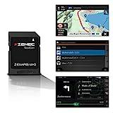Zenec Z-EMAP66-MH3 : Micro SD - Card con Viaggio Mobile Navigazione per Zenec Autoradio / Multimediasysteme Z-E3766 e Z-N966, 3-D Carte per Europa, Camping P. O. I. per Caravan, Tmc