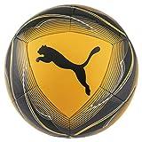 PUMA Icon Ball Balón de Fútbol, Unisex-Adult, Ultra Yellow Black-Orange Alert, 5