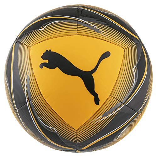 Puma Icon Ball, Pallone da Calcio Unisex-Adult, Ultra Yellow Black-Orange Alert, 5