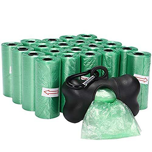 Slowton Bolsas para Desperdicios de Perros, 22 Rollo Bolsas para excrementos de perro, Bolso inútil del perro, bolso de la caca del perro, bolso de la caca del perro, Bolsas de Basura Biodegradables para Perros Mascotas Bolsas de Plástico Respetuosas con Medio Ambiente para Eliminación de Poop, 330 unidades (Verde)