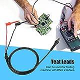 Cable coaxial, 2Pcs BNC a prueba doble Gancho Sonda Osciloscopio Máquina de prueba Cables coaxiales de plomo
