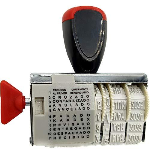 OCEANO Sellos personalizados, símbolos digitales, sellos de rodillo, rodillos, rodillos multifuncionales para álbumes de recortes de bricolaje, sello de fecha de papelería