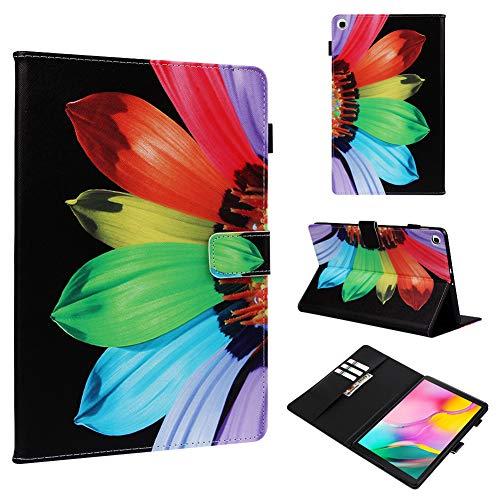 KM-WEN - Funda con Tapa para Samsung Galaxy Tab A P200 y P205 (Piel sintética, función Atril, Cierre magnético), diseño de Libro Pattern-6 Samsung Galaxy Tab A T510/ T515