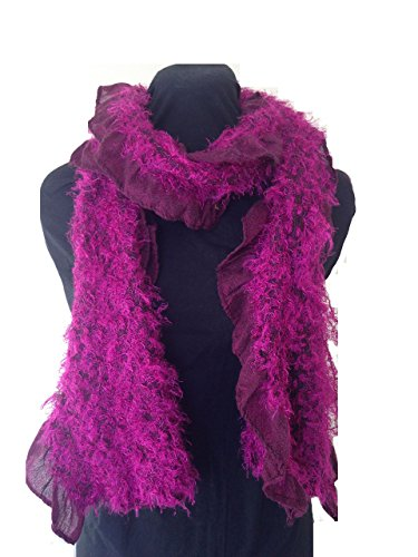 Pamper Yourself Now Pink flauschigen Winter Damen Schal (Pink warm fluffy winter ladies scarf)