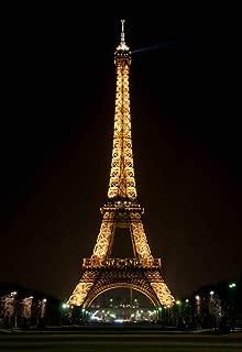 Beautiful Paris Eiffel Tower Photo Studio Backdrop 5x7FT Night View Of Paris Blue Light Props Wall Photography Background EY002