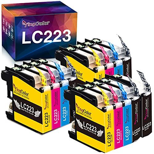 YINGCOLOR LC 223 Druckerpatronen Ersatz für Brother LC223 LC-223 LC 223XL Patronen für Brother MFC-J5320DW J880DW J680DW DCP-J562DW J4420DW DCP-J4120DW J5620DW J480DW J5720DW J4620DW J4625DW J5625DW