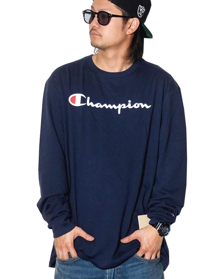 仲良し割る健康Champion(チャンピオン) ロングTシャツ メンズ 長袖 スクリプトロゴ 春 秋 b系 ストリート系 ファッション T3822 3カラー [並行輸入品]
