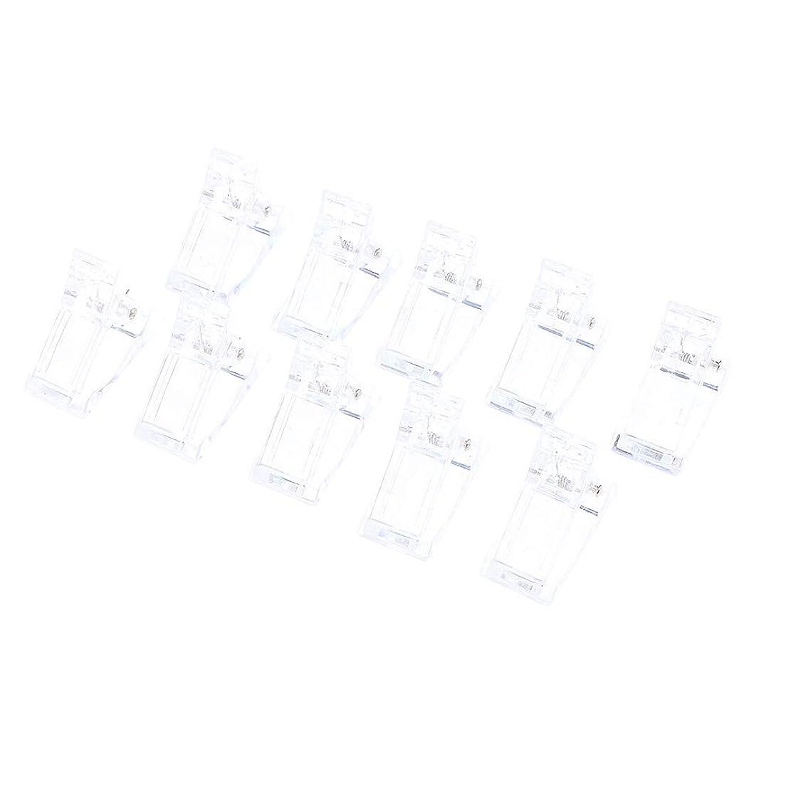 いつマットれるSharplace 10個 ネイルチップクリップ プラスチック モールド フィンガークリップ 再使用可