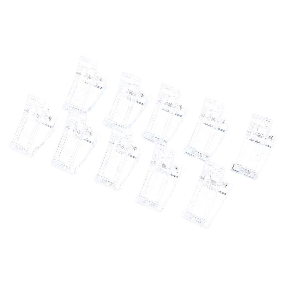 奴隷交通フック10ピース/セットポリゲルクイックビルネイルアートのヒントクリップ爪用 - UV Ledネイルプラスチックアシスタントツール