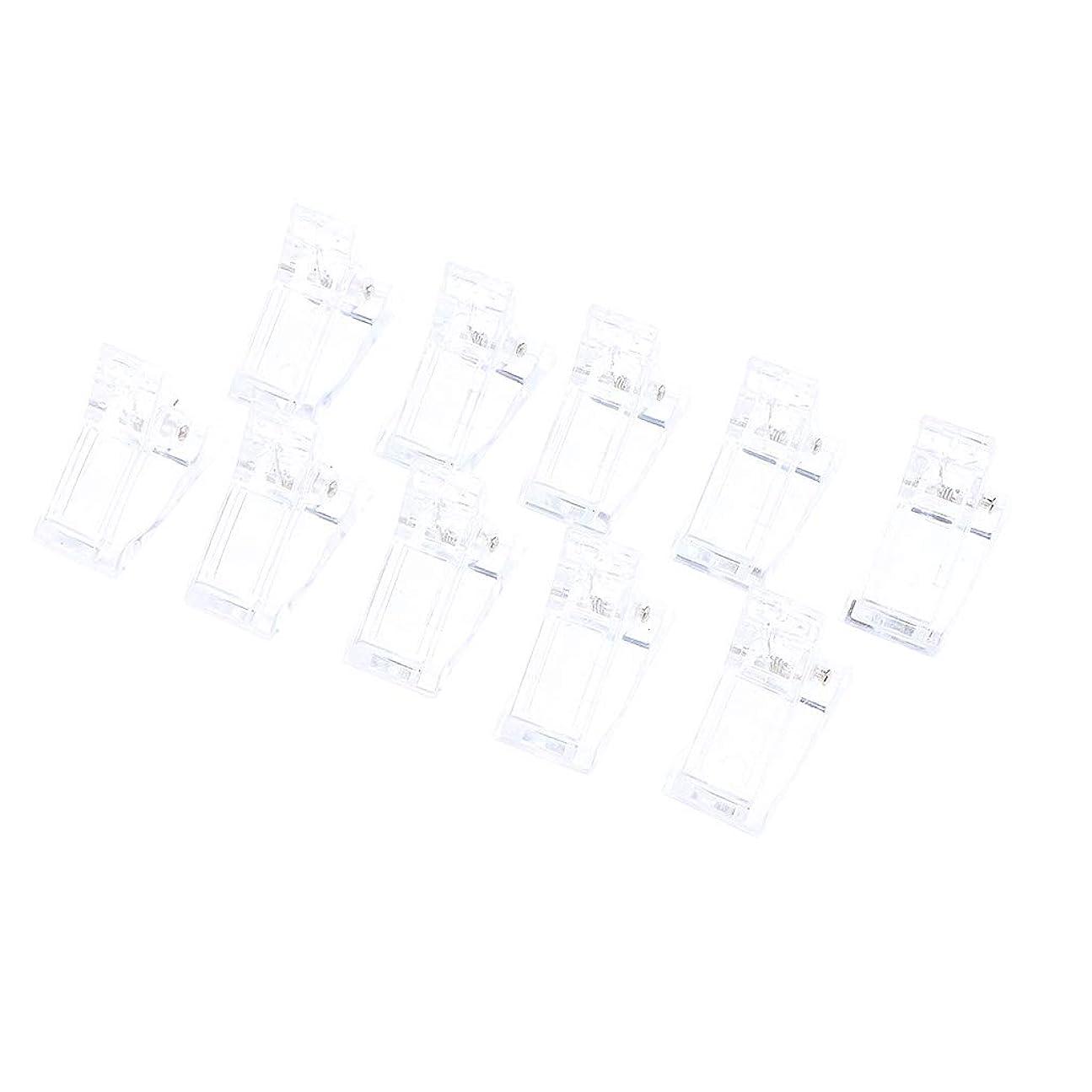 気付く角度秘書Sharplace 10個 ネイルチップクリップ プラスチック モールド フィンガークリップ 再使用可