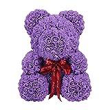 25 cm di schiuma di sapone artificiale, orsetto di rose, orso per San Valentino, orso di rose, orso...