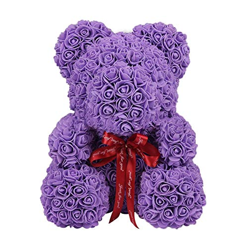 Künstliche Rose Soap Schaumstoff Bär Form - geruchlose Rose Soap Geschenk zum Valentinstag Schwangere Frau