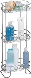iDesign 27900EU Neo étagère, Rangement Salle de Bain en métal à Trois étage pour Le shampooing et Le Gel Douche, argenté, ...