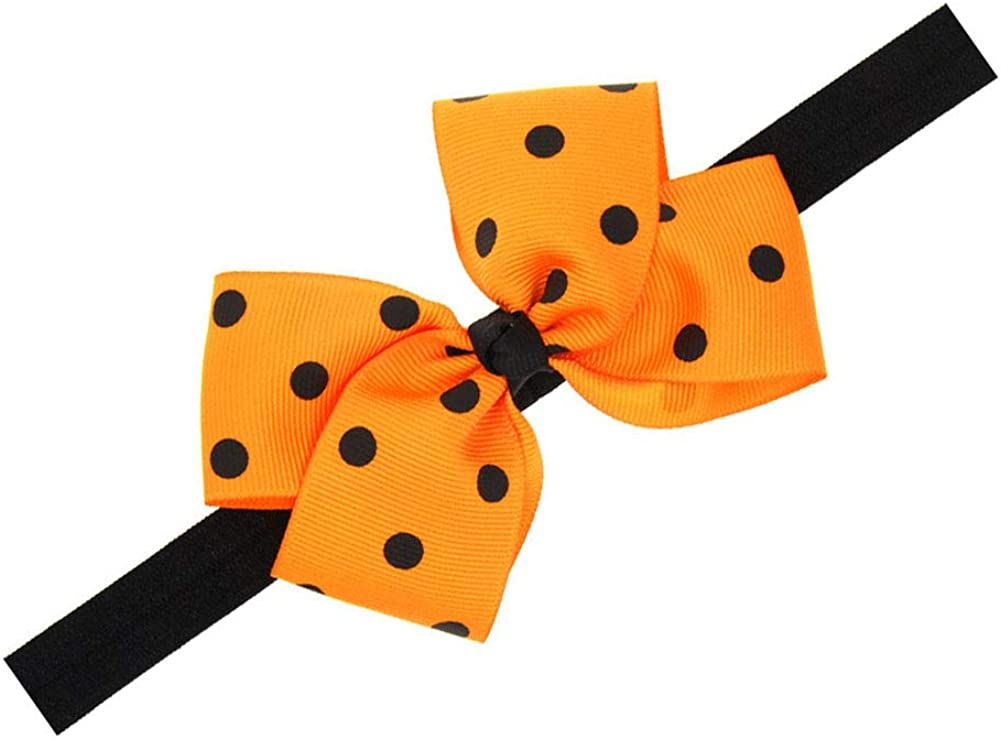 Baby Orange Headband With Flower Hair Bow Band Girls Hair Accessories JHH20