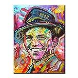 Full Square Drill Diamond Painting 5D DIY Diamond Embroidery Colorful Frank Sinatra Diamond Mosaic Home Decor Gift-Round 50X40Cm
