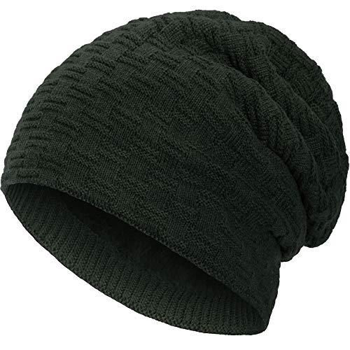 Compagno Beanie Gorro de invierno de punto cesta con suave interior de...