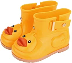 Toddler Kids Baby Waterproof Rain Shoes Anti-Slip Durable Rubber Boots Cartoon Duck Water Shoes