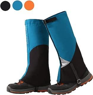 Tuban Hiking Gaiters Ski Snow Gaiters Waterproof Boot Gaiters Reinforced Adjustable TPU Strap Breathable 1001D Nylon Leg Gaiters (Blue)