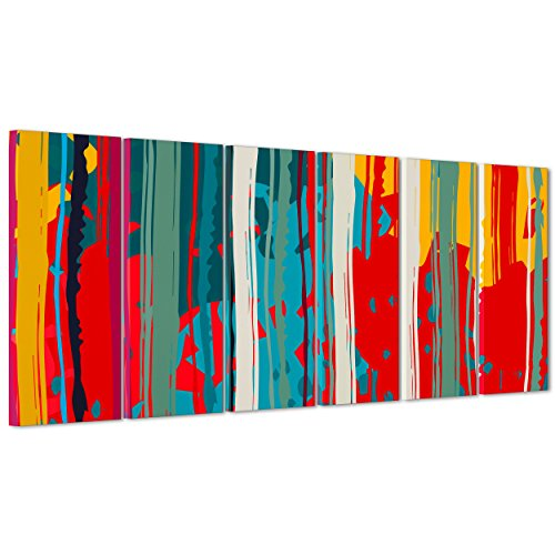 ConKrea Quadro su Tela Canvas - INTELAIATO - Pronto da Appendere - Pollock - Arte Astratta Astratto - 190x70cm (cod.3018)