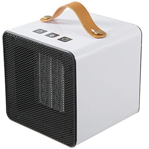 800W Calentador eléctrico Mini para hogar, calentador de aire de calefacción portátil para invierno, ventilador/calentador de escritorio para oficina, hogar, enchufe para EE. UU./UE ( Color : White )