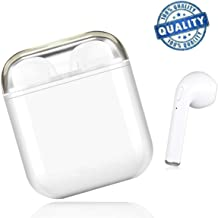 Bluetooth Headsets Wireless Headphones Sports Earbuds Hands-Free Earphones In Ear Headsets Anti-Sweat Earpieces for iOS MAX/X/8/7/6/6s Plus Android S9 Plus S8/Android Phones-White