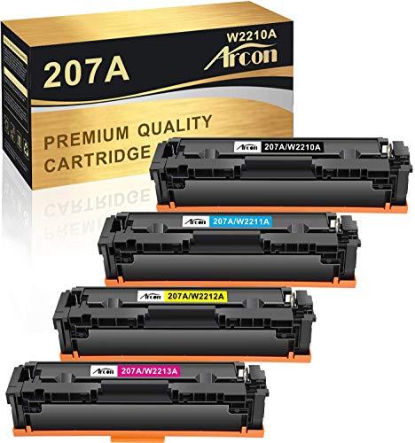 Arcon Kompatibel Toner Cartridge Replacement fur HP 207A 207X HP W2210A W2210X W2211A W2212A W2213A fur HP Color Laserjet Pro M283fdw M255dw M282nw M283fdn MFP M283fdw M283 M255 Kein Chip