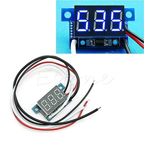 ZHOUMO Mini LED 0-999mA DC 4-30V Digital Panel Amperemeter Ampere Ampere Meter mit Kabel (Blau)