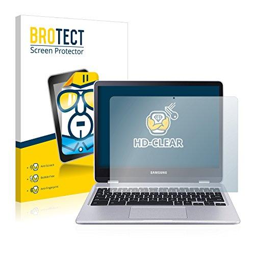 BROTECT Schutzfolie kompatibel mit Samsung Chromebook Plus (2 Stück) klare Bildschirmschutz-Folie