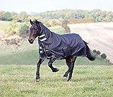 Shires Tempest Plus Pferdedecke, 300 g, 1200 Denier, Schwarz