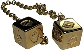 Custom 3D Stuff Smuggler's Dice Accurate Stainless Steel Gold Plated Deluxe Solo Dice