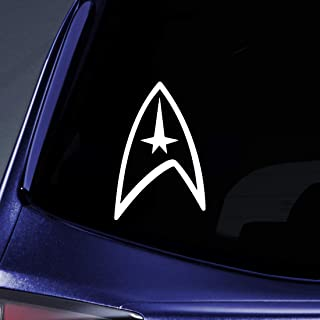 Bargain Max Decals - Star Federation Logo Sticker Decal Notebook Car Laptop 5