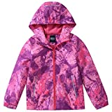 AIWUHE Mädchen Übergangsjacke mit Fleecefütterung Winddicht Wanderjacke warm atmungsaktiv Windjacke Trekkingjacke Outdoor Kinderjacke, 130