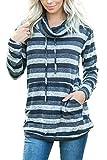 BLENCOT Sudaderas Sin Capucha Mujer Sudadera de Mujer de Invierno Jersey Larga Mujer Suéter Mujer Manga Larga Pullover Mujer Cuello Redondo Otoño Sweatshirt Mujer Raya