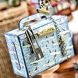 Suministros de fabricación de tarjetas, maleta de viaje bolsa de metal troqueles de corte DIY Scrapbook en relieve tarjeta de papel plantilla - plata