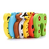 Jree Ash Baby Finger Pinch Guard, 7-Pack Cartoon Animal Foam Door Slam Stopper Baby Finger Protector, Child Proof Baby Proof Product Safety Lock Guard Finger Protection for Children Kids and Baby