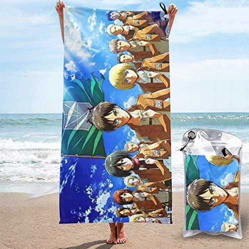 SHIJIAN Toallas de playa Atta (-en) Titan toallas de mano Sábanas de baño de lino er manta absorbente baño viajes grandes piscinas trajes de baño novedad, 31.5 pulgadas x 63 pulgadas