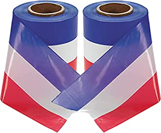 American Flag Ribbon Red White and Blue for Fourth of July 4th (2-Pack) 300 Feet Each Roll