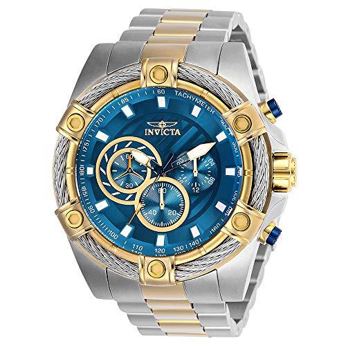 Invicta Relógio masculino Bolt de quartzo japonês com pulseira de aço inoxidável, dourado, 26 (modelo: 25522)