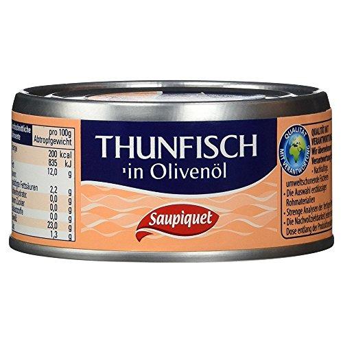 Saupiquet Thunfischstücke in Olivenöl, 140g