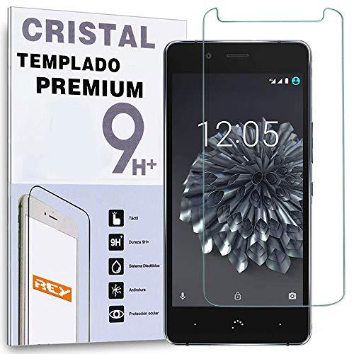REY Protector de Pantalla para BQ X5 Plus, Cristal Vidrio Templado Premium