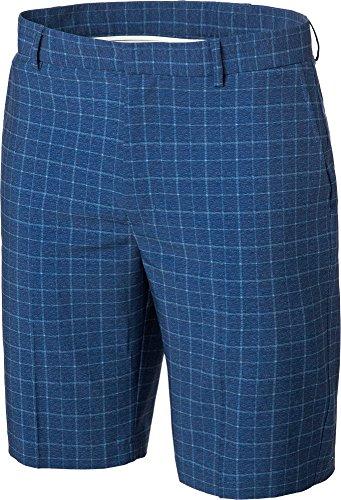 Walter Hagen Mens Windowpane Golf Shorts (Blue Estate,30)