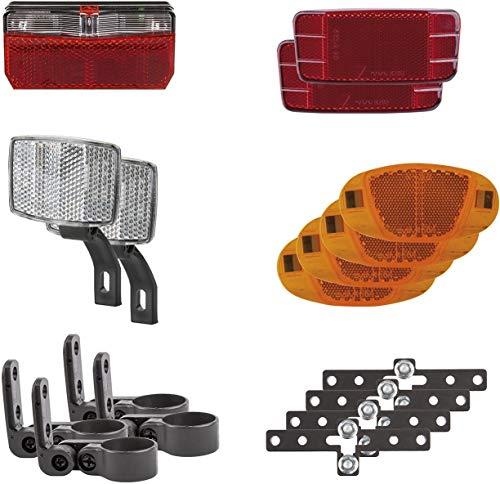 P4B | Universal Beleuchtungsset für Fahrradanhänger | Zugelassen gemäß §67a StVZO (2018) | Anhängerbeleuchtung
