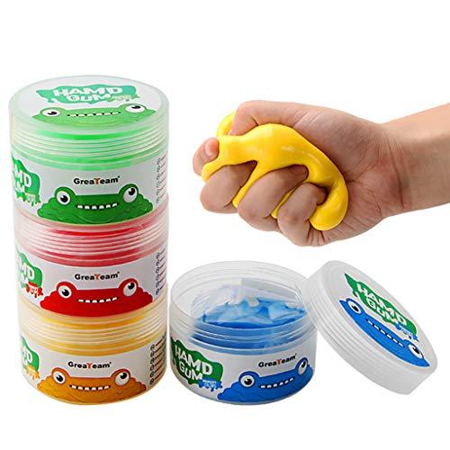 hfior 4 Stücke Therapieknete Hand Squeezer, Putty Für Handtraining, Therapie Knete